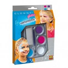 Farby wodne do malowania twarzy CLOWNY - 4...