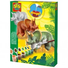 Triceratops - odlew gipsowy 3D