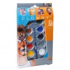 Farby do malowania twarzy 10 kolorów - Clowny