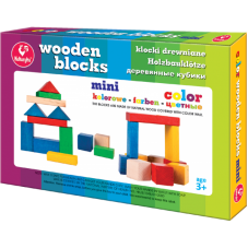 Klocki Drewniane Mini Kolorowe + Gratis...